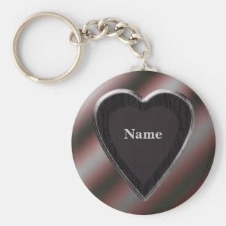 Name Stripes Heart Keychain - Template