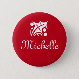 Name tag buttons for corporate Christmas party