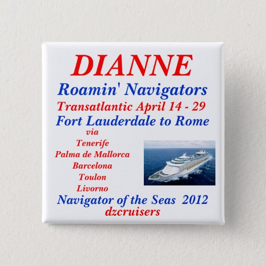 name tag navigator white 15 cm square badge
