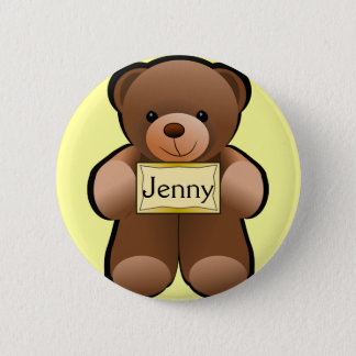 Name Tag Teddy 6 Cm Round Badge
