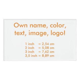 Name Tag uni White - Own Color