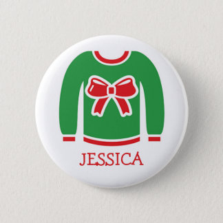 Name Tags Ugly Christmas Sweater Party 6 Cm Round Badge