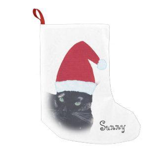 Name Tortoiseshell Cat Santa Christmas Stocking
