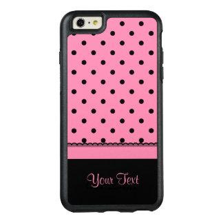 Name Tube Sock Black Polka Dots hot pink OtterBox iPhone 6/6s Plus Case