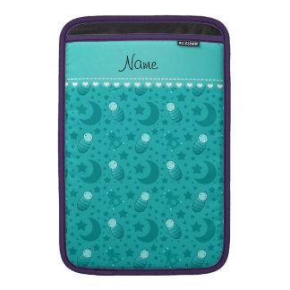 Name turquoise baby teddy bear stars moons MacBook air sleeves
