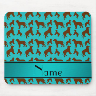 Name turquoise Irish Water Spaniel dogs Mouse Pad