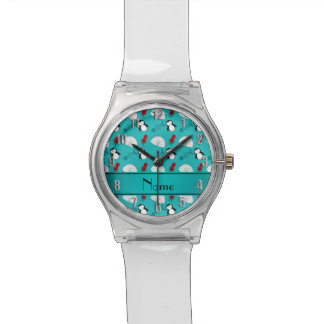 Name turquoise penguins igloo fish squid watch