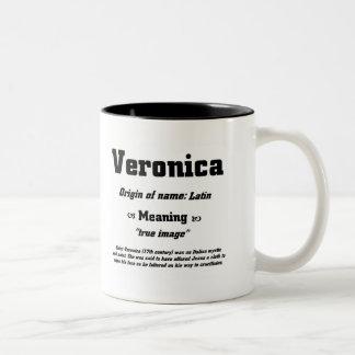 Name Veronica Two-Tone Mug