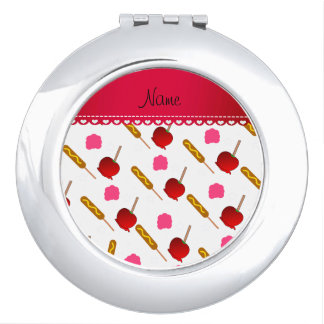 Name white cotton candy apples corn dogs makeup mirror