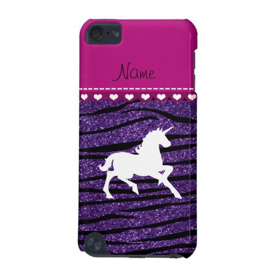 Name white unicorn purple glitter zebra stripes iPod