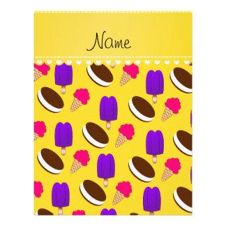 Name yellow ice cream cones sandwiches popsicles 21.5 cm x 28 cm flyer