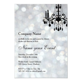 Name your Event Silver Grand Ballroom 13 Cm X 18 Cm Invitation Card
