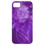 """named"" chrysanthemum purple iphone 5 case"