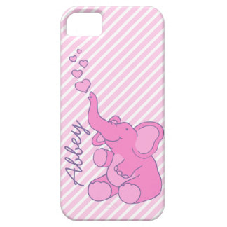 Named cute pink elephant iphone 5 case