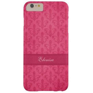 Named Fleur de Lis damask pink iphone 6 case