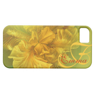 Named iris floral yellow art iphone5 case
