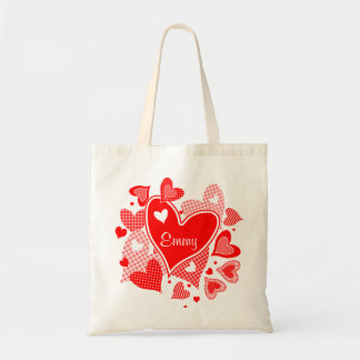 Named Valentine's Hearts Tote Bag