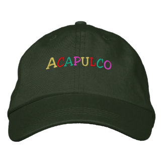 Namedrop Nation_Acapulco multi-colored Embroidered Baseball Caps
