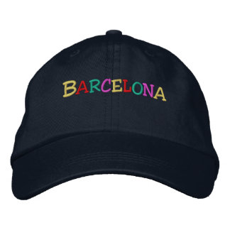 Namedrop Nation_Barcelona multi-colored Embroidered Hat