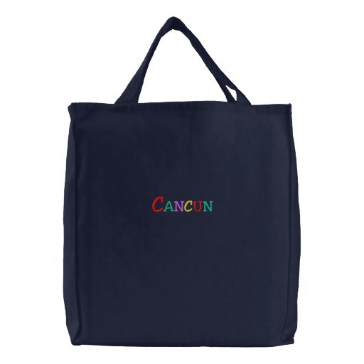 Namedrop Nation_Cancun Multi-coloured Embroidered Tote Bag