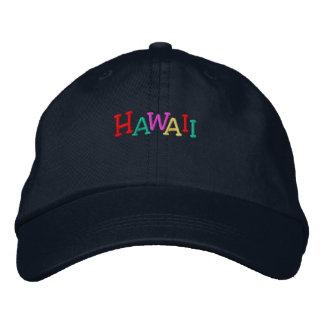 Namedrop Nation_Hawaii multi-colored Embroidered Hat