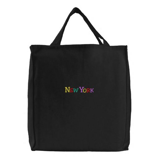 Namedrop Nation_New York Multi-colored Canvas Bag