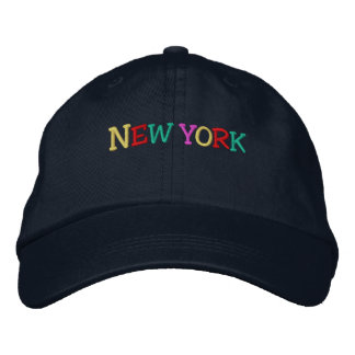 Namedrop Nation_New York multi-colored Embroidered Baseball Cap