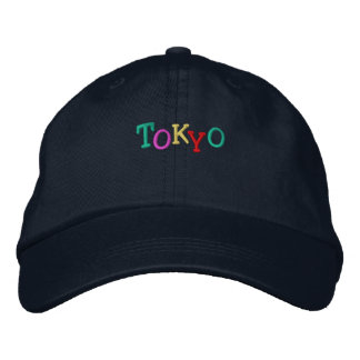 Namedrop Nation_ Tokyo multi-colored Embroidered Baseball Cap