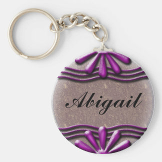Nameplate Lilac Key Ring