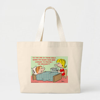 names changed protect innocent mother goose jumbo tote bag