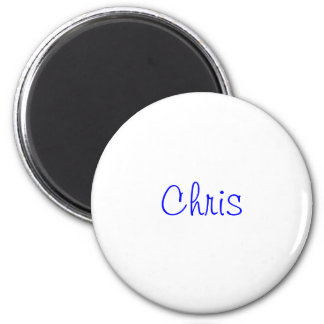 Names collection 6 cm round magnet