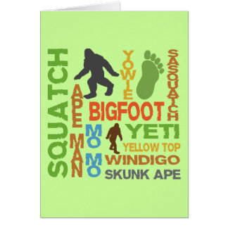 Names For Bigfoot Greeting Card