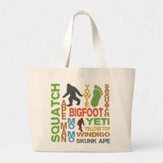 Names For Bigfoot Jumbo Tote Bag