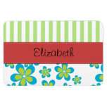 Names Initials Monograms Flowers Green Red Blue Rectangle Magnets