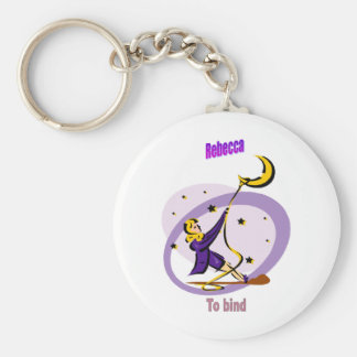 Names&Meanings - Rebecca Basic Round Button Key Ring