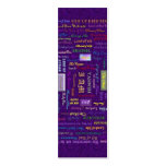 names of God bookmark Pack Of Skinny Business Cards