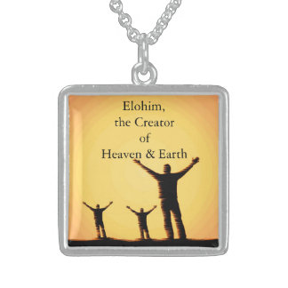 Names of  God - Elohim Silver Plated Necklace