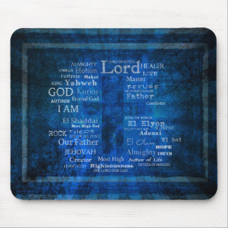 Names of God,  Holy Names listed with  image Mouse Mat