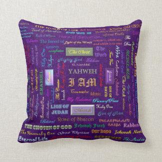 names of God reversible custom pillow