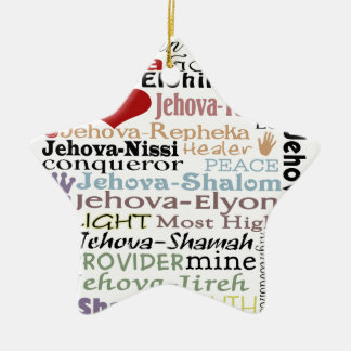 Names of God-Subway Art Christmas Ornament