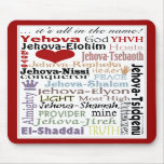 Names of God-Subway Art Mouse Pads