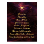 Names of Jesus - Christmas Postcard