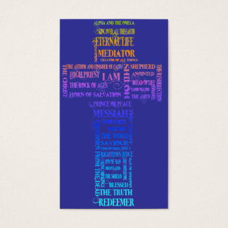 Names of Jesus Cross Business Card