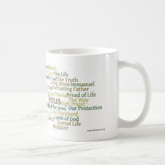 Names of Jesus Mug - Green Tones