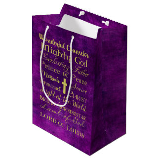 Names of Jesus Purple Gift Bag