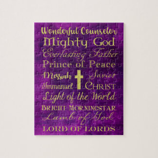 Names of Jesus Purple Puzzle