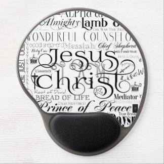 Names of Jesus Typography Gel Mousepad Gel Mouse Mat