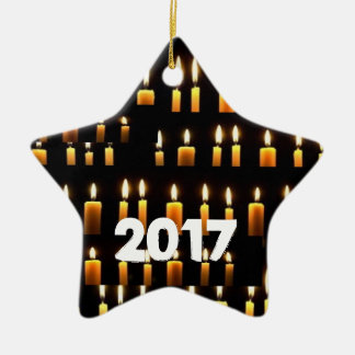 Nameste  Candle Decorations 2017 HAPPY NEWYEAR Ceramic Star Decoration
