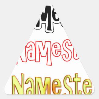 Nameste NAMESTE Hindi Indian  Hello  Bow Triangle Sticker