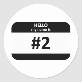 Nametag #2 round sticker